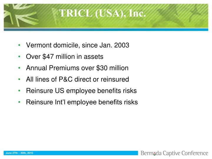 TRICL (USA), Inc.