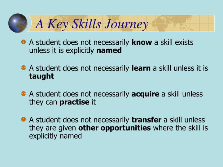 A Key Skills Journey