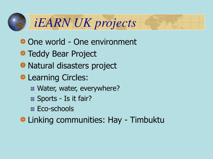 iEARN UK projects