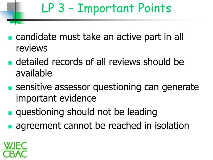 LP 3 – Important Points