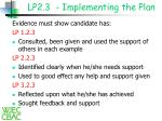 lp2 3 implementing the plan