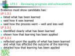 lp3 1 reviewing progress and achievements