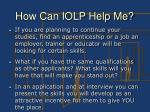 how can iolp help me