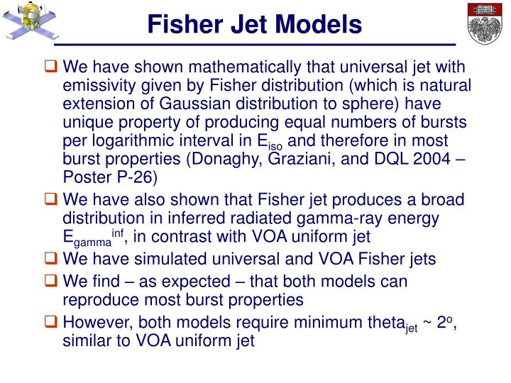Fisher Jet Models