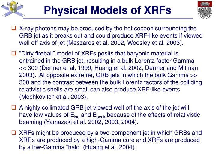 Physical Models of XRFs