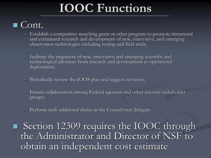 IOOC Functions