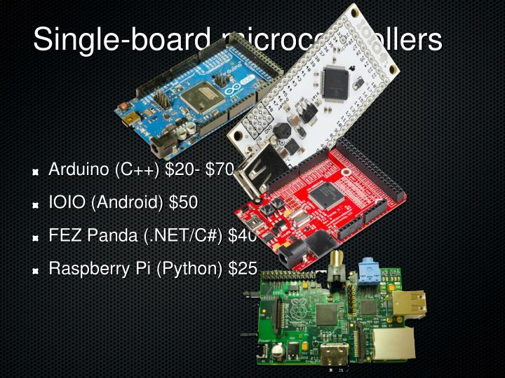Single-board microcontrollers