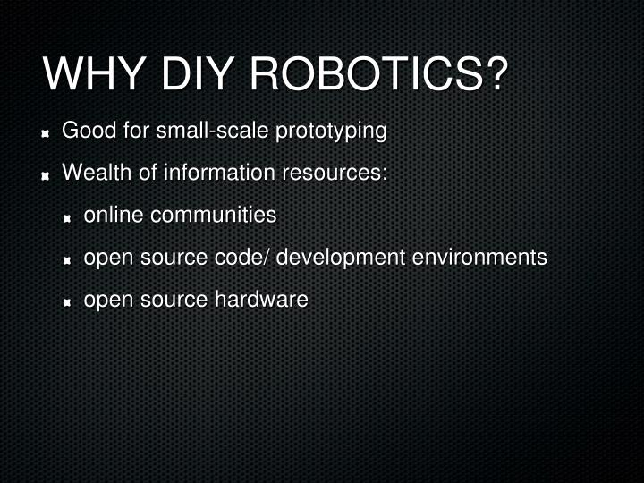 Why diy robotics1
