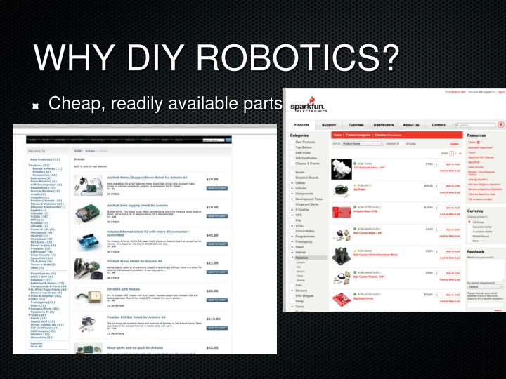 WHY DIY ROBOTICS?