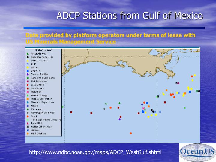 ADCP Stations from Gulf of Mexico