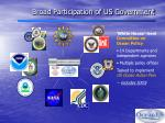 broad participation of us government