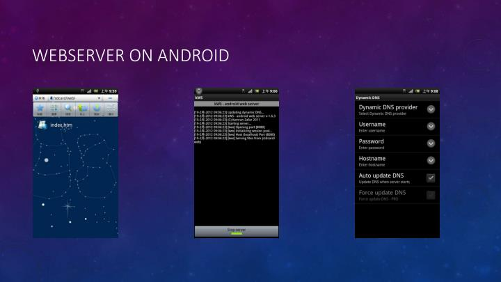 Webserver on android