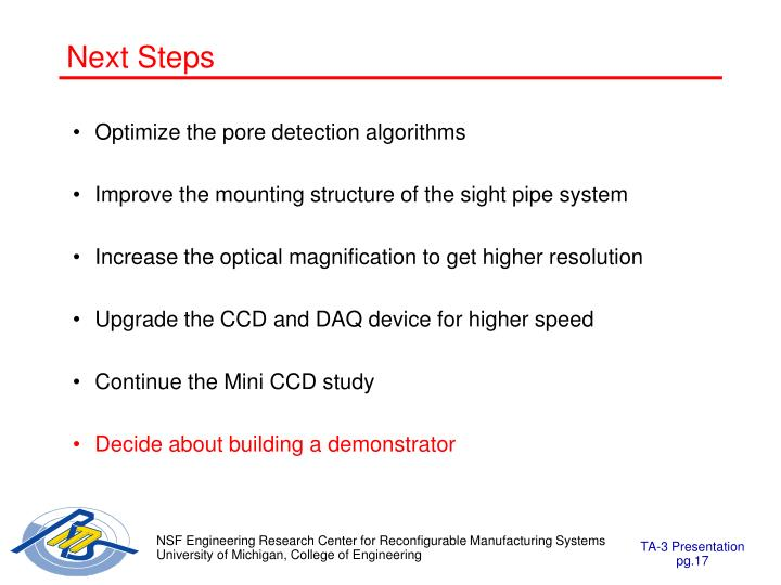 Optimize the pore detection algorithms