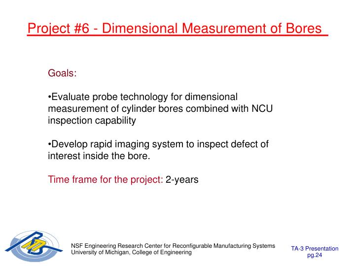 Project #6 - Dimensional Measurement of Bores