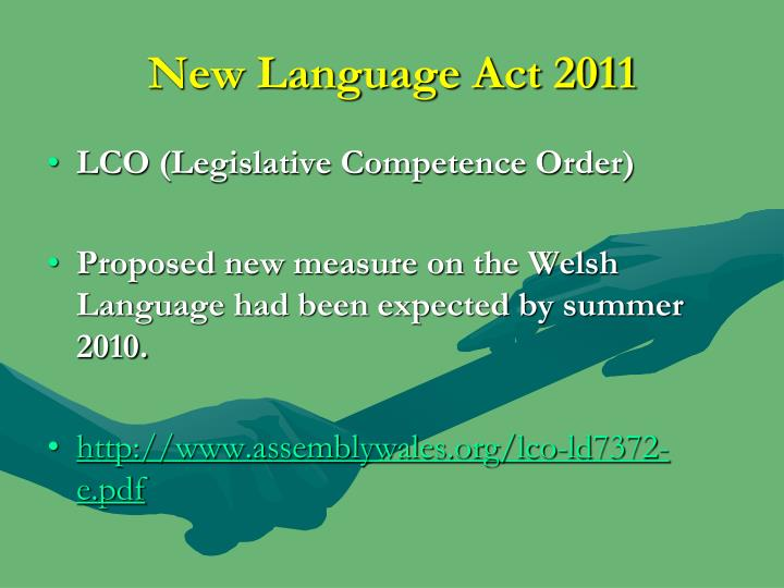 New Language Act 2011