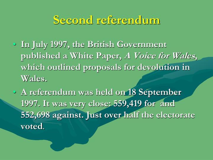 Second referendum