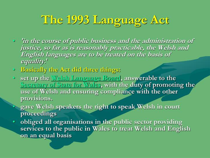 The 1993 Language Act