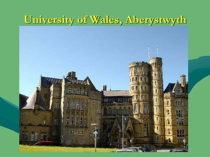University of Wales, Aberystwyth