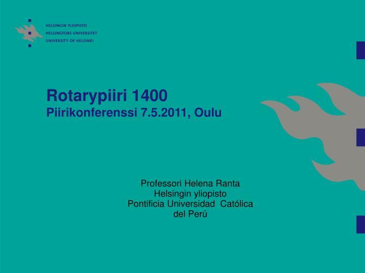 Rotarypiiri 1400