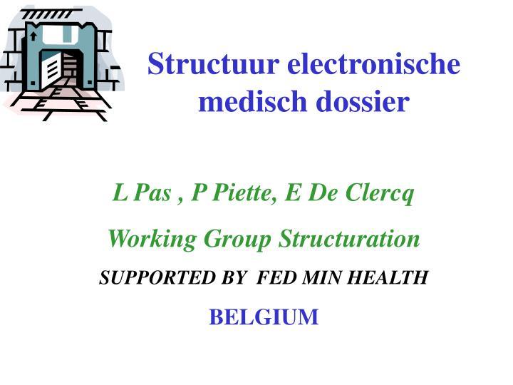 Structuur electronische