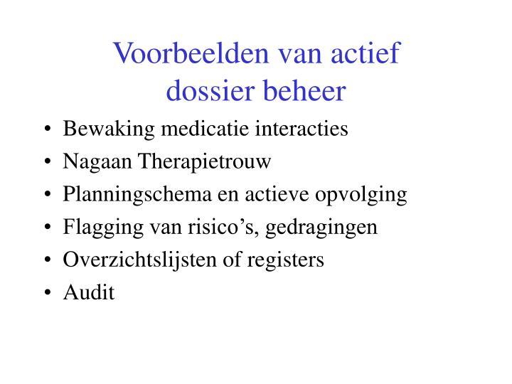Voorbeelden van actief