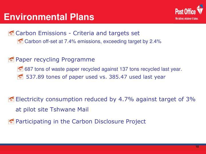 Environmental Plans