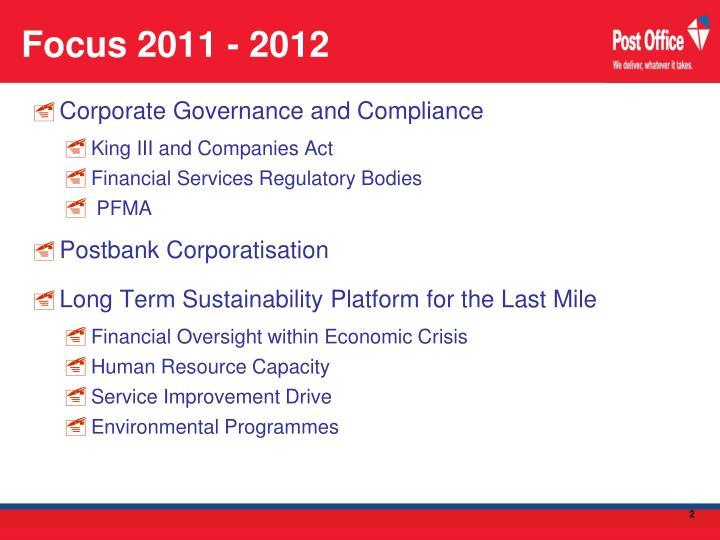 Focus 2011 - 2012