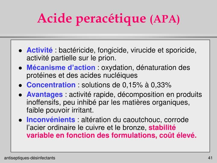 Acide peracétique