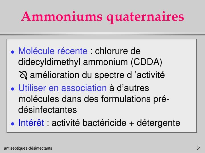 Ammoniums quaternaires