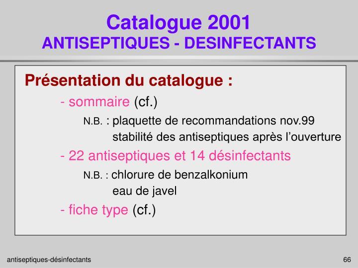 Catalogue 2001