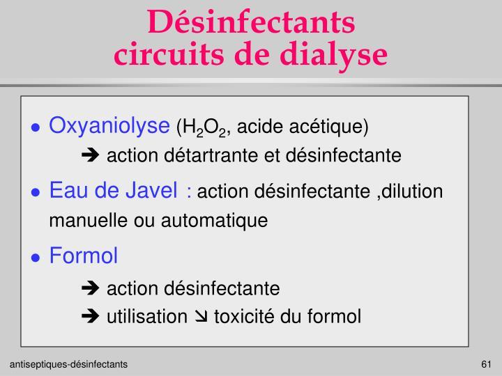 Désinfectants