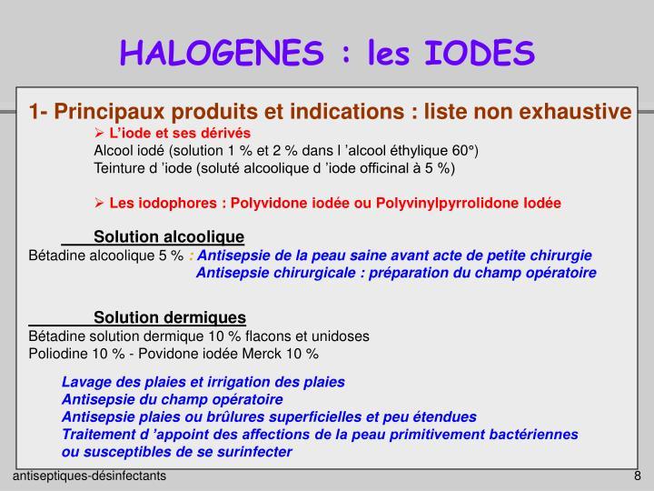 HALOGENES : les IODES