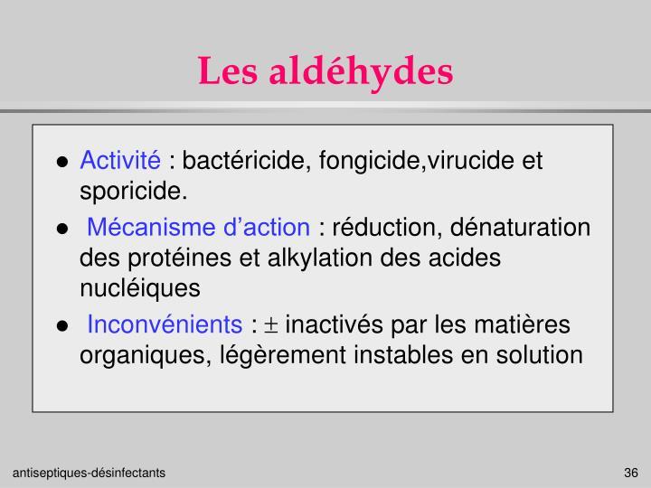 Les aldéhydes