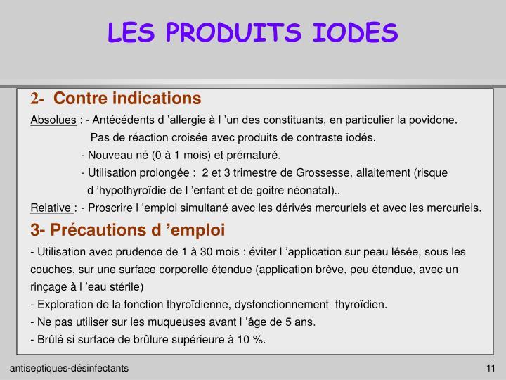 LES PRODUITS IODES