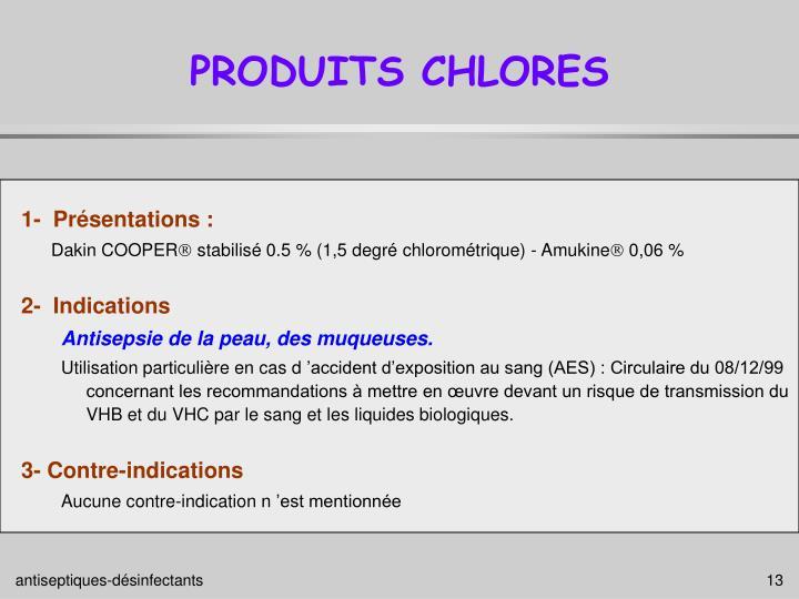 PRODUITS CHLORES