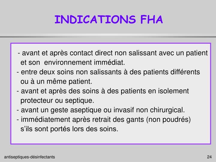 INDICATIONS FHA