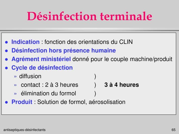 Désinfection terminale