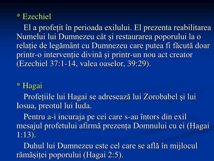 * Ezechiel