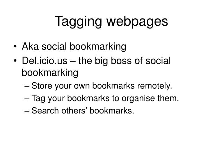 Tagging webpages