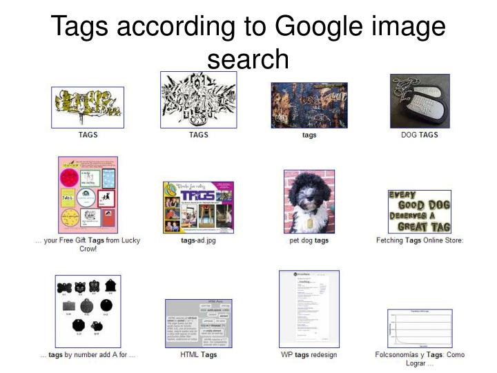 Tags according to Google image search