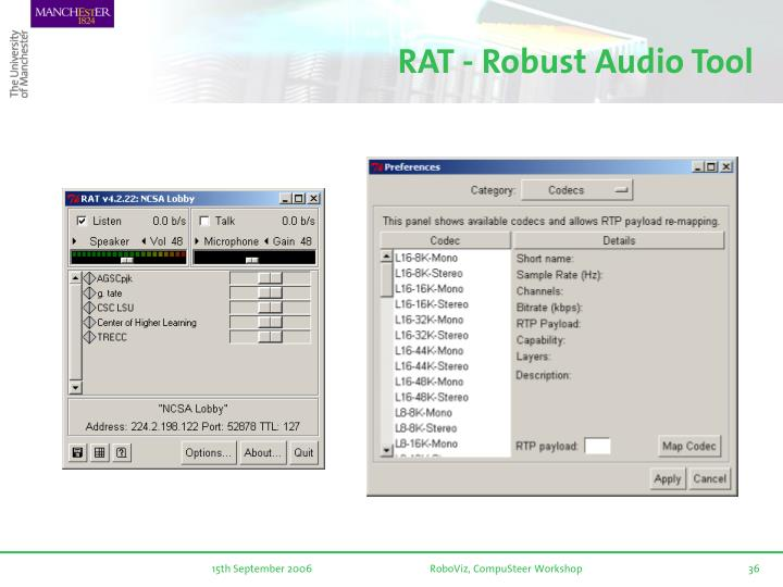 RAT - Robust Audio Tool