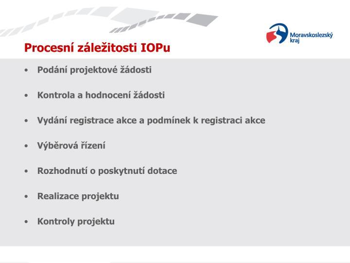 Procesní záležitosti IOPu