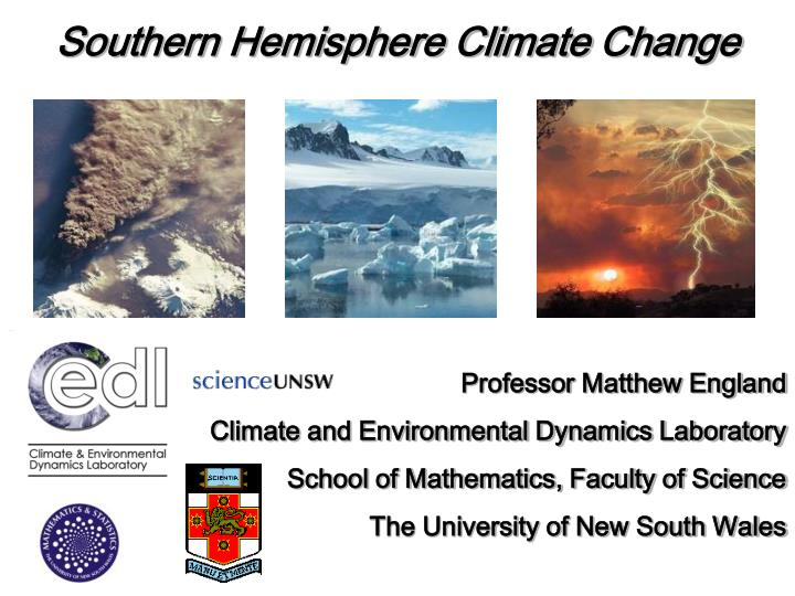Southern Hemisphere Climate Change