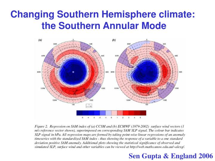 Changing Southern Hemisphere climate: