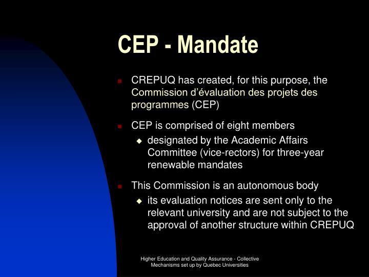 CEP - Mandate