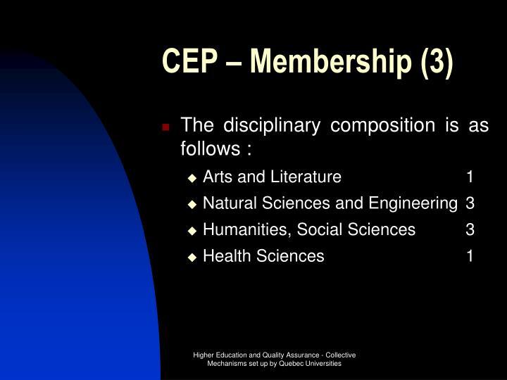 CEP – Membership (3)
