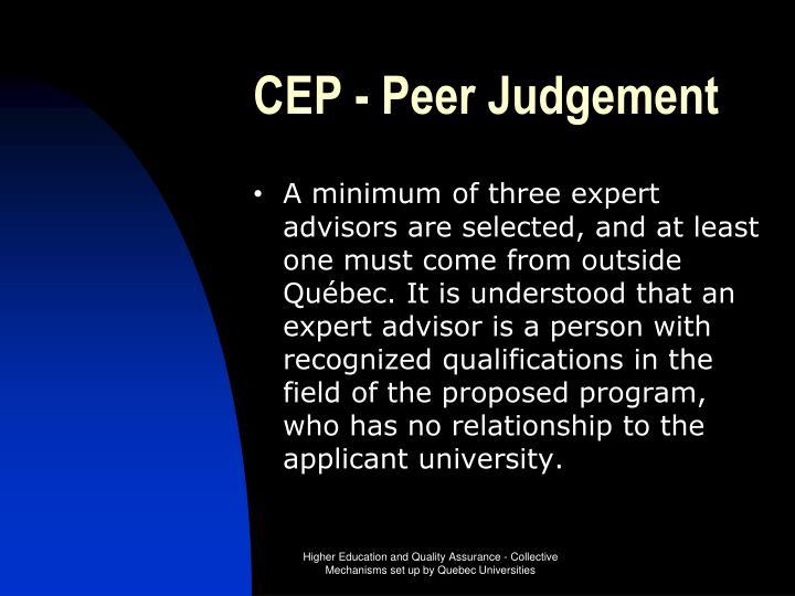 CEP - Peer Judgement