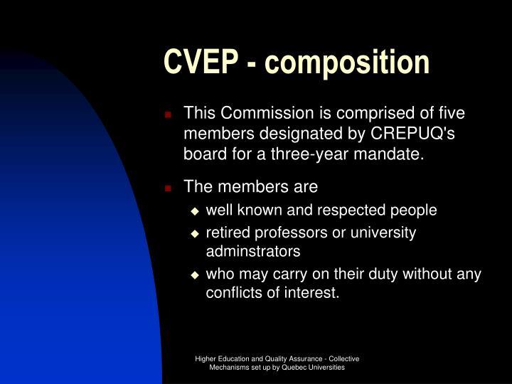 CVEP - composition