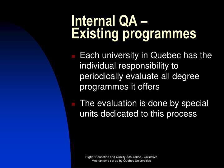 Internal QA –