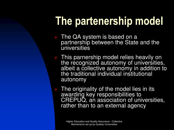 The partenership model